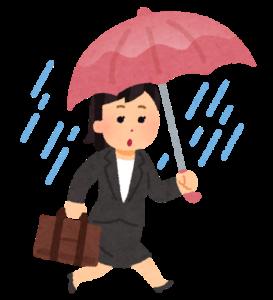 雨の日買い物行かない大変