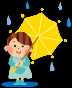 雨の日買い物行かない小さい子供