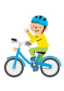 幼稚園帰宅後自転車